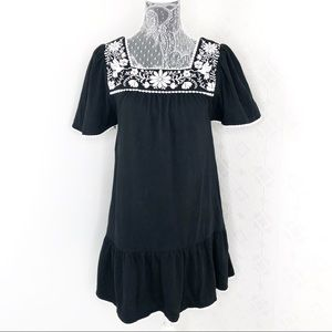 Kate Spade Black Embroidered Dress